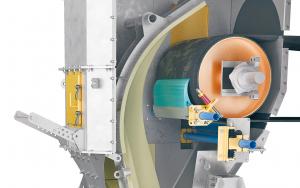 Drawing of the interior of a transfer belt, using Benetech belt scraper technology.