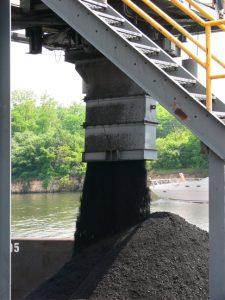 Loose coal in a heap.
