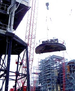 Installment of material handling upgrades