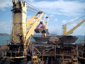 Barge cargo loading system.